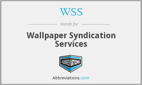 WSS - Wallpaper Syndication Services