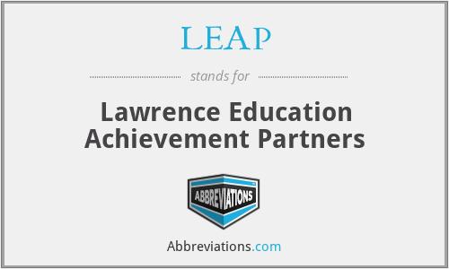 LEAP - Lawrence Education Achievement Partners