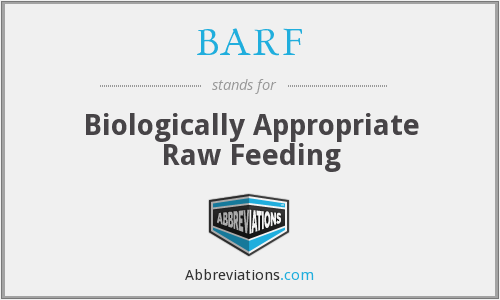 BARF - Biologically Appropriate Raw Feeding