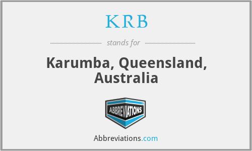 KRB - Karumba, Queensland, Australia