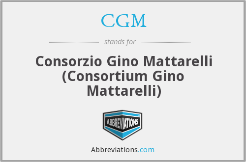 CGM - Consorzio Gino Mattarelli (Consortium Gino Mattarelli)