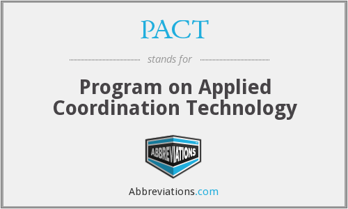 PACT - Program on Applied Coordination Technology