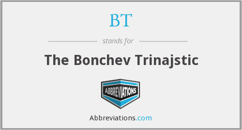 BT - The Bonchev Trinajstic