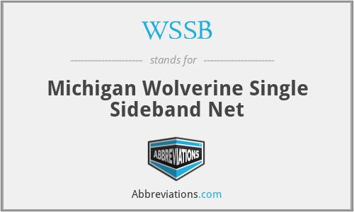 WSSB - Michigan Wolverine Single Sideband Net