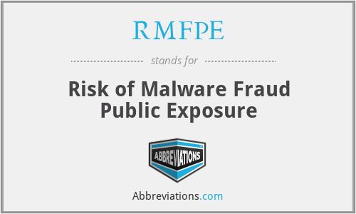 RMFPE - Risk of Malware Fraud Public Exposure