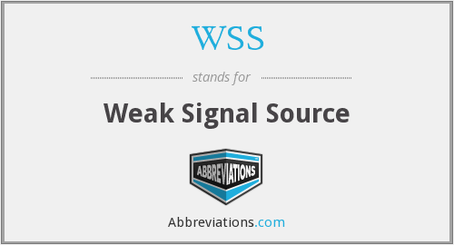 WSS - Weak Signal Source