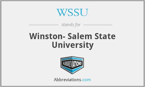 WSSU - Winston- Salem State University