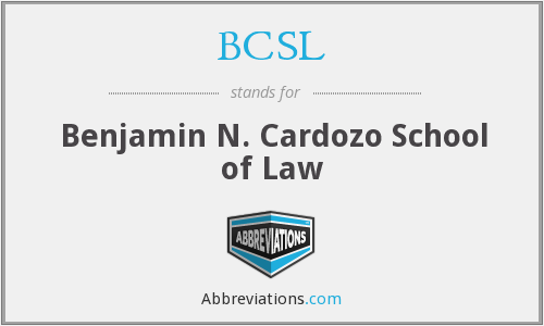 BCSL - Benjamin N. Cardozo School of Law