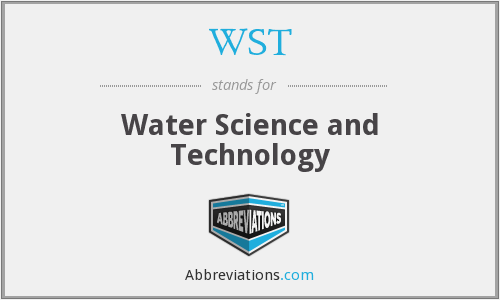 WST - Water Science and Technology