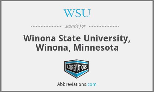 WSU - Winona State University, Winona, Minnesota
