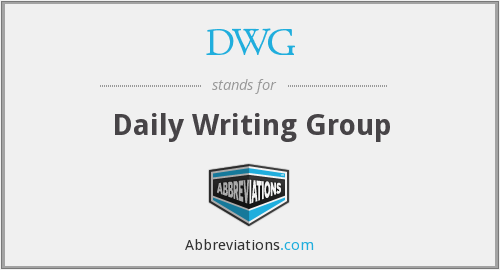 DWG - Daily Writing Group