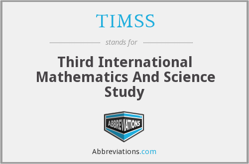 What does TIMSS stand for?