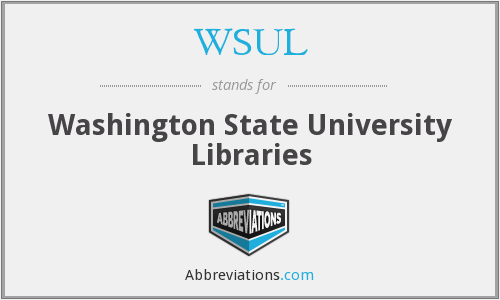WSUL - Washington State University Libraries
