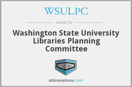 WSULPC - Washington State University Libraries Planning Committee