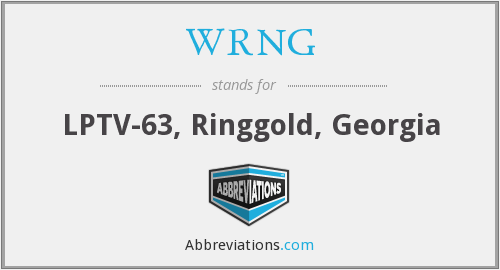 What does WRNG stand for?