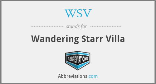 WSV - Wandering Starr Villa