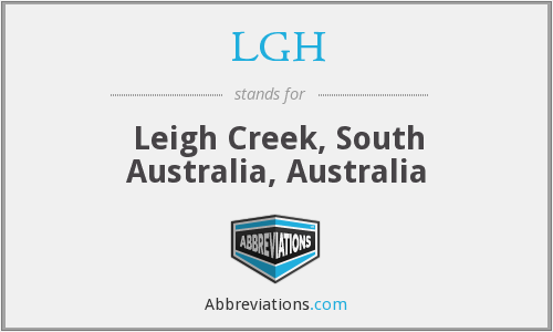 LGH - Leigh Creek, South Australia, Australia