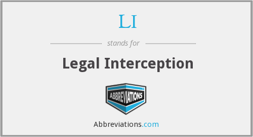 LI - Legal Interception