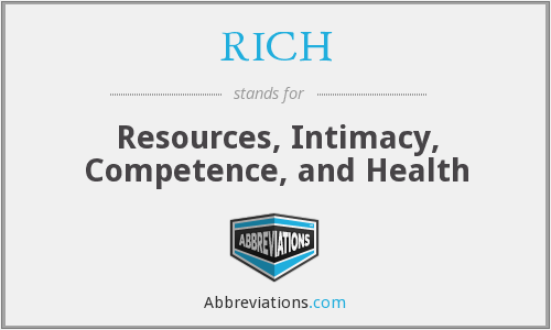 RICH - Resources, Intimacy, Competence, and Health