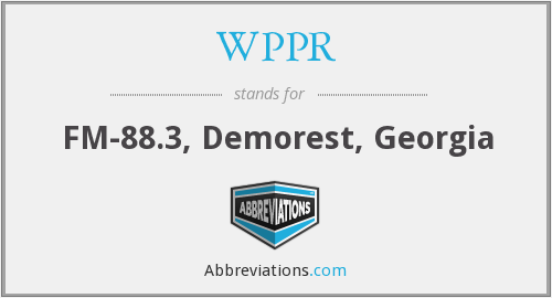 What does WPPR stand for?