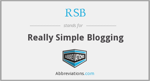 RSB - Really Simple Blogging