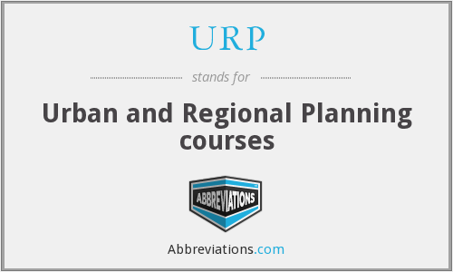 URP - Urban and Regional Planning courses