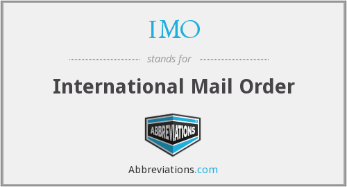 IMO - International Mail Order