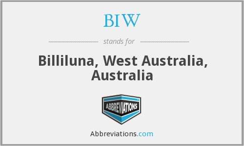 BIW - Billiluna, West Australia, Australia
