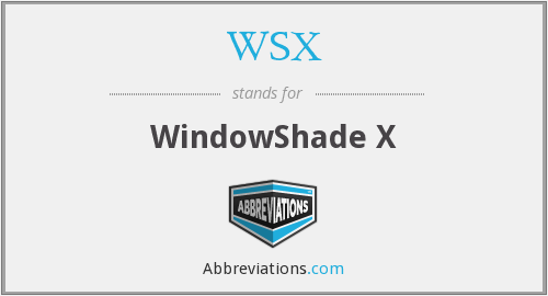 What does WSX stand for?