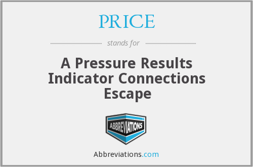 PRICE - A Pressure Results Indicator Connections Escape