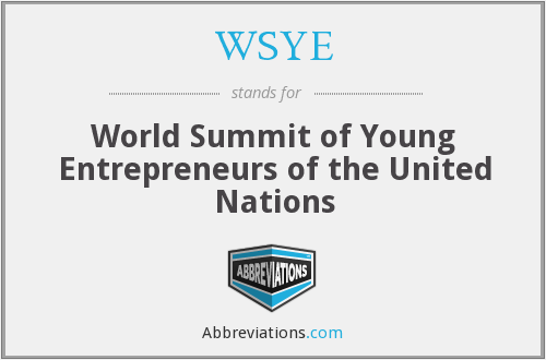 WSYE - World Summit of Young Entrepreneurs of the United Nations