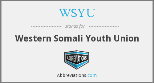 What does WSYU stand for?