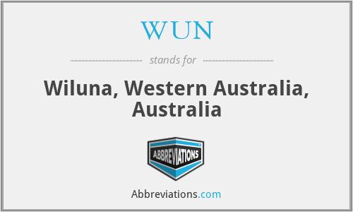 WUN - Wiluna, Western Australia, Australia