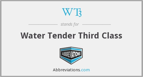 WT3 - Water Tender Third Class
