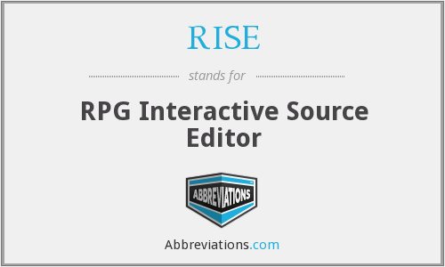RISE - RPG Interactive Source Editor