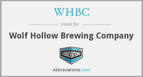 WHBC - Wolf Hollow Brewing Company