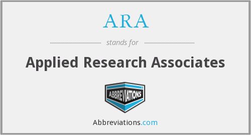 ARA - Applied Research Associates