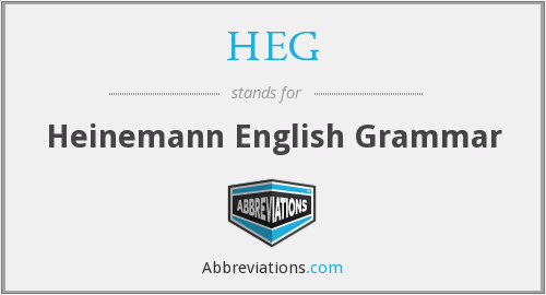 HEG - Heinemann English Grammar