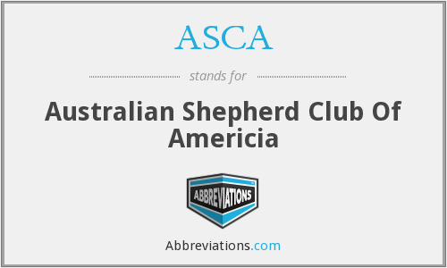 ASCA - Australian Shepherd Club Of Americia