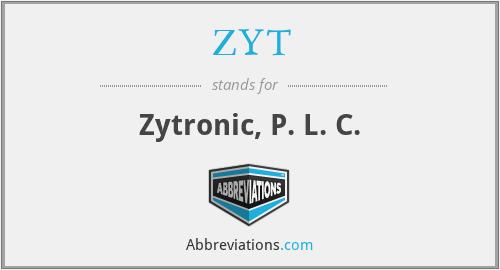 ZYT - Zytronic, P. L. C.