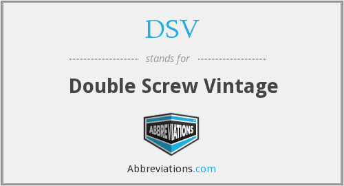 DSV - Double Screw Vintage