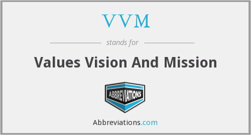 VVM - Values Vision And Mission
