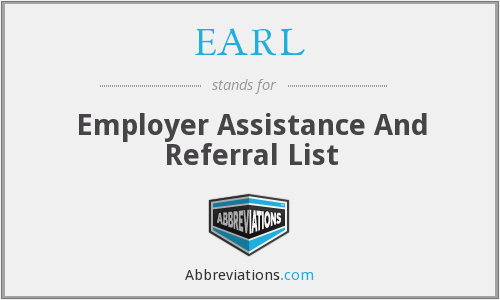 EARL - Employer Assistance And Referral List