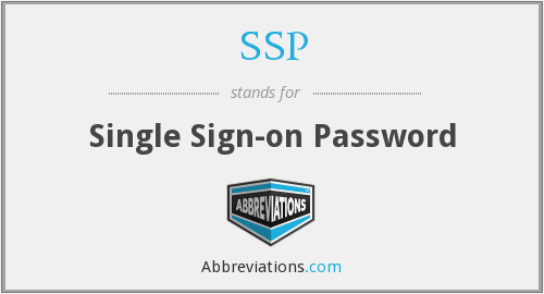 SSP - Single Sign-on Password