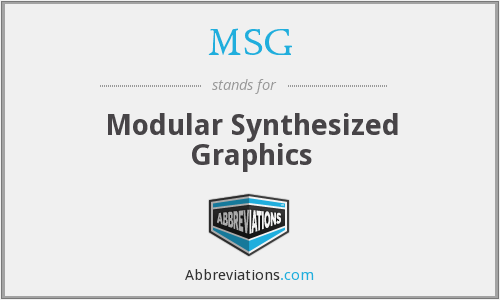 MSG - Modular Synthesized Graphics