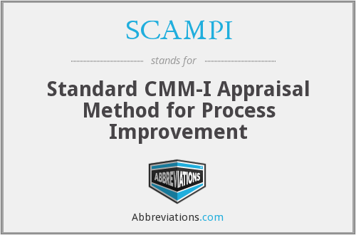 SCAMPI - Standard CMM-I Appraisal Method for Process Improvement