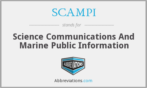 SCAMPI - Science Communications And Marine Public Information