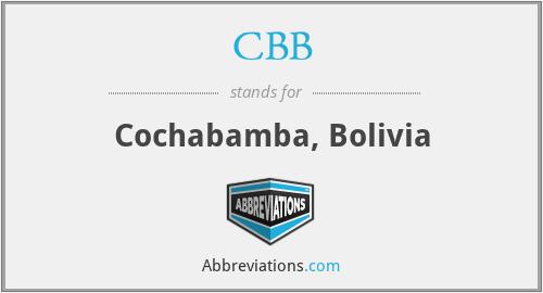 CBB - Cochabamba, Bolivia