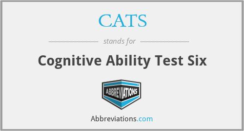 CATS - Cognitive Ability Test Six