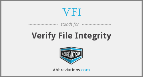VFI - Verify File Integrity